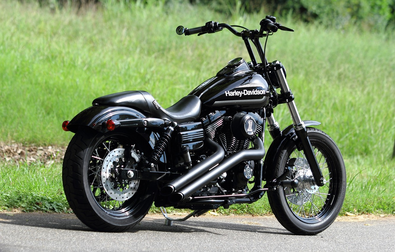 Wallpaper Black Harley Davidson Chopper Bike Harley Davidson Images For Desktop Section Motocikly Download