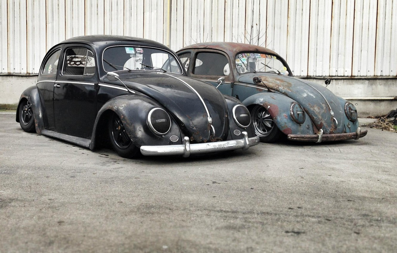 Photo wallpaper Volkswagen, Beetle, ratlook