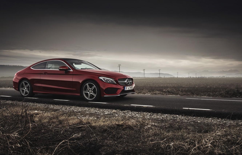 Photo wallpaper car, Mercedes Benz, Coupe, C Class, Ciprian Mihai