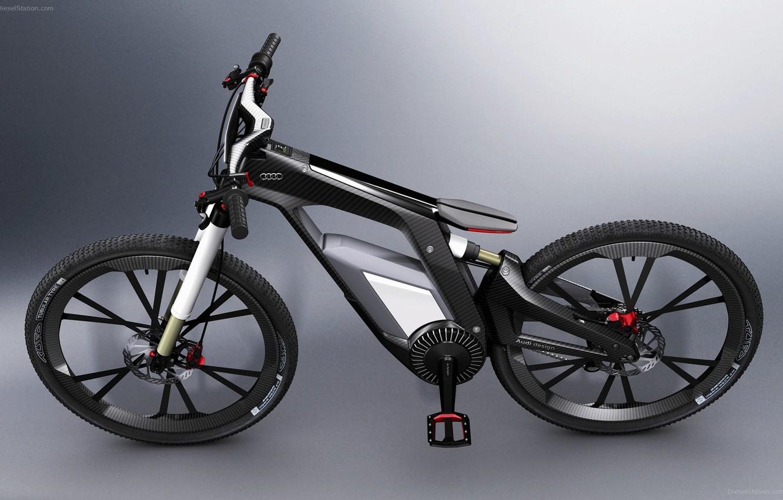 Photo wallpaper bike, Audi, carbon, 2012, hybrid, Worthersee, e-bike