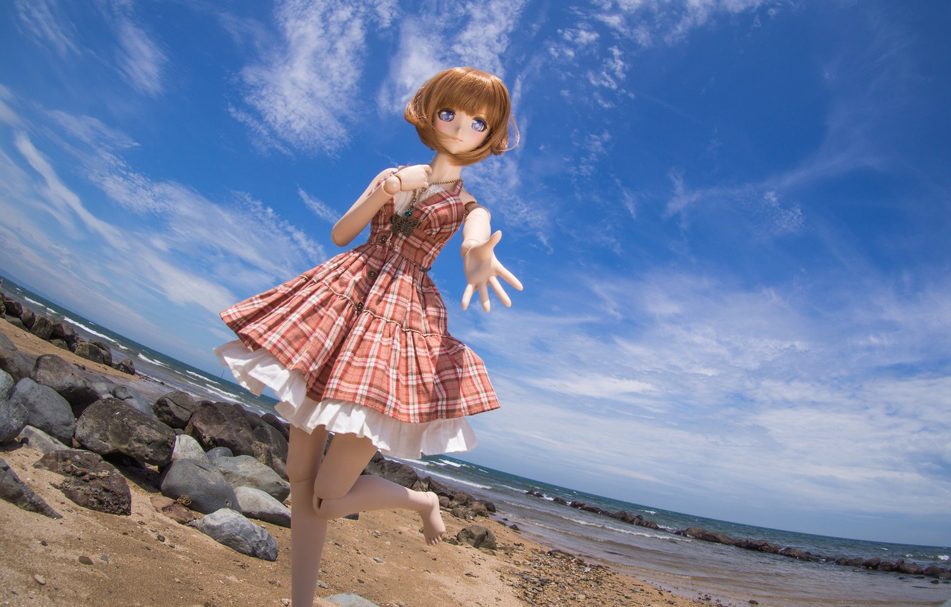 Wallpaper Sea The Sky Nature Stones Toy Doll Images For