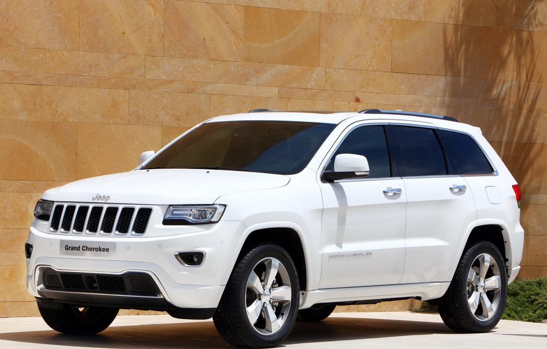 Photo wallpaper white, jeep, SUV, Jeep, Grand Cherokee, Overland