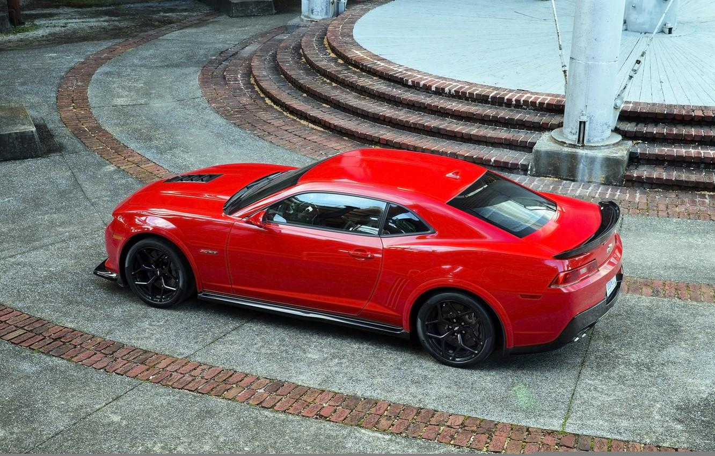 Photo wallpaper red, muscle car, Chevrolet Camaro, Camaro, Z28