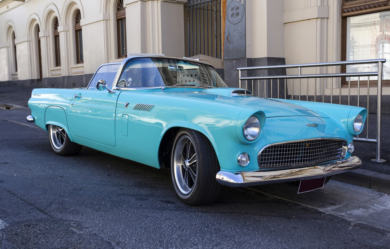 Photo wallpaper Ford, classic, the front, Thunderbird, T-Bird