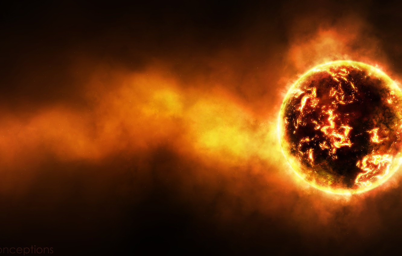 Photo wallpaper radiation, temperature, cataclysm, the red-hot planet, radiation