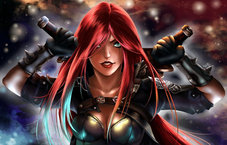 Wallpaper League Of Legends Katarina Lol Art Images For Desktop