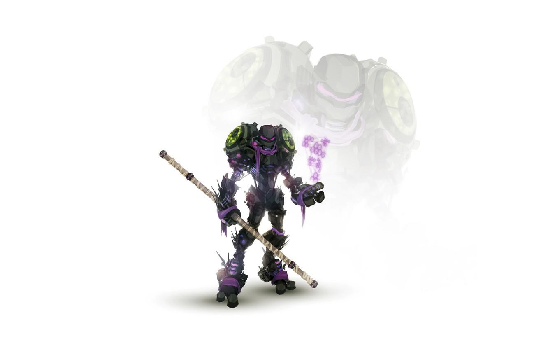 Photo wallpaper robot, cyborg, mutants, teenage mutant ninja turtles, turtles, TMNT, stick, teenage mutant ninja turtles, don, …