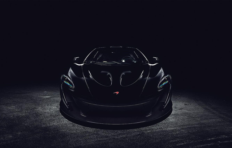 Photo wallpaper black, McLaren, before, black, front, McLaren
