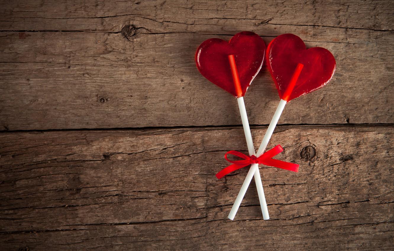 Photo wallpaper love, heart, Lollipop, love, heart, romantic, lollypop