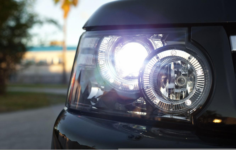 Photo wallpaper headlight, optics, Rover, Range