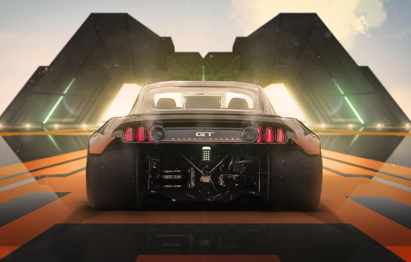 Photo wallpaper Concept, Mustang, Ford, Tuning, Future, Halo 4, by Khyzyl Saleem