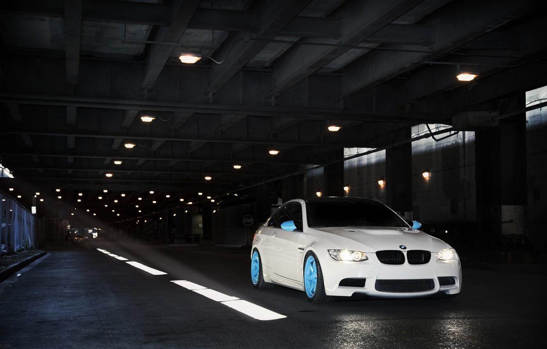 Photo wallpaper white, BMW, BMW, the tunnel, white, E92, IND