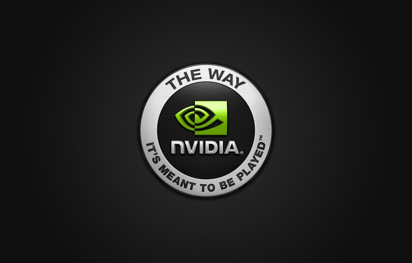 Photo wallpaper nvidia, logo, the way its meant to be played