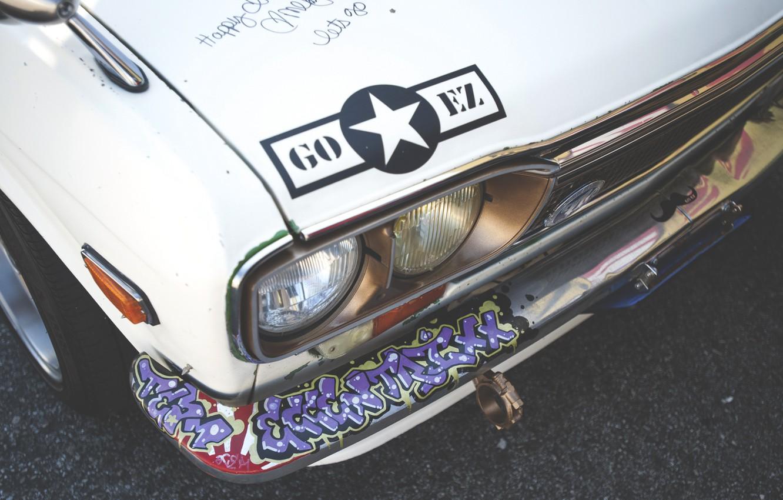 Photo wallpaper headlight, the hood, nissan, Nissan, datsun, Datsun