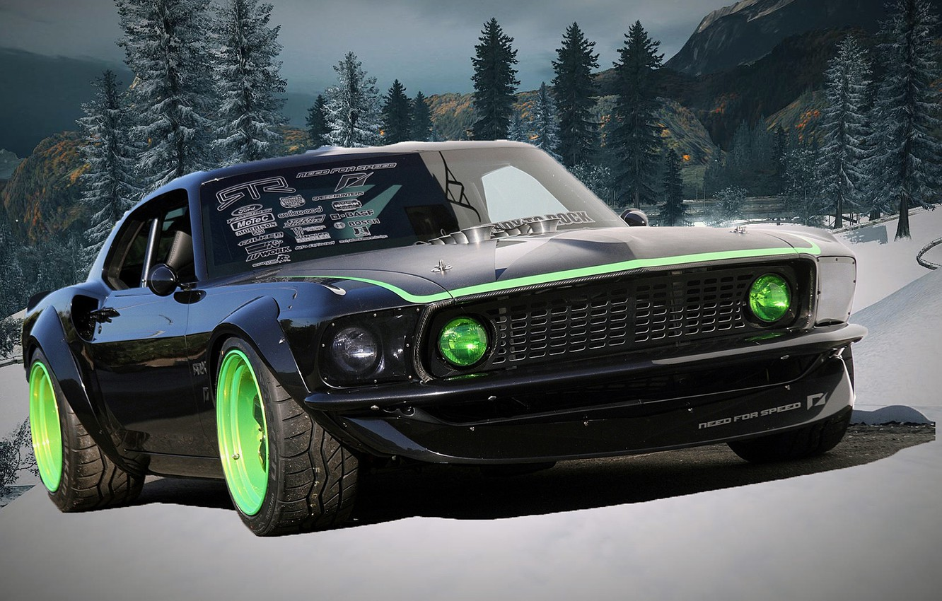 Wallpaper Winter Auto Need For Speed Ford Mustang Boss