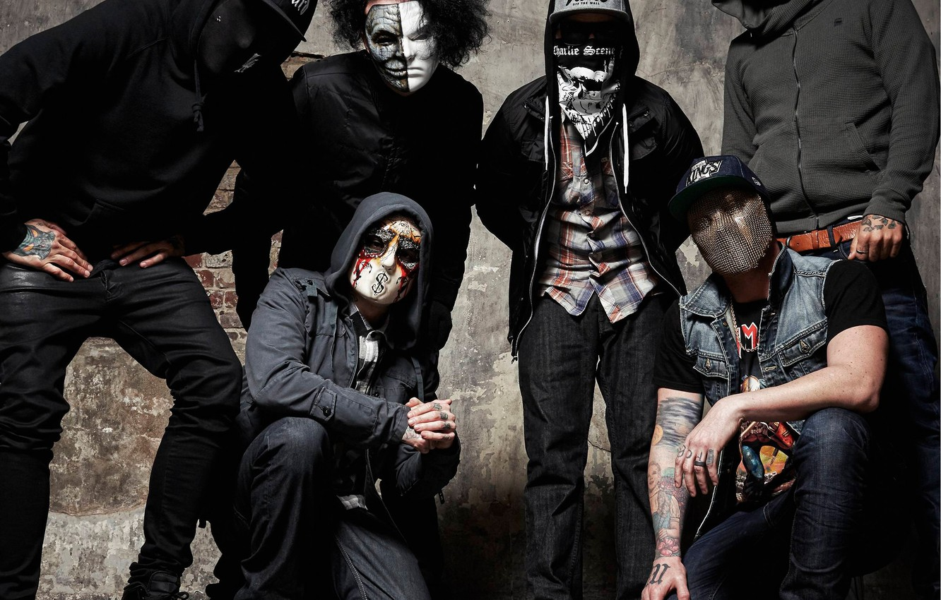Photo wallpaper Charlie Scene, Funny Man, Hollywood Undead, Danny, J-DOG, Da kurlzz, RapRock, RapCore
