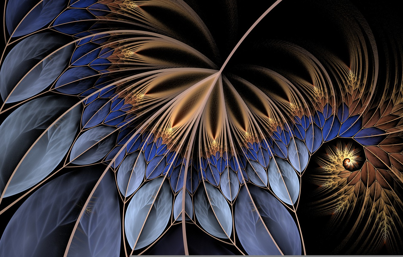 Photo wallpaper leaves, line, sheet, spiral