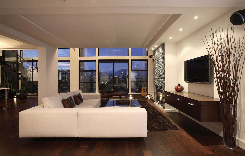 Photo wallpaper design, the city, style, interior, balcony, living space, duplex penthouse