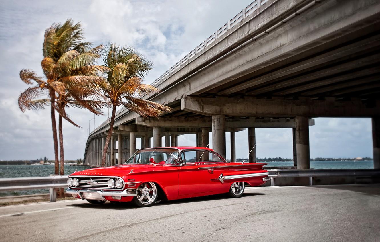 Photo wallpaper cars, 1960, chevrolet, cars, auto wallpapers, car Wallpaper, auto photo, impala, chevy