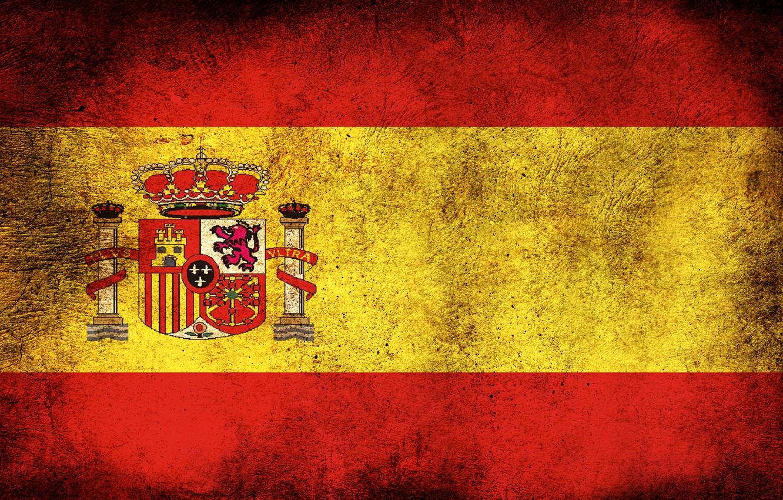 Photo wallpaper flag, dirt, Spain