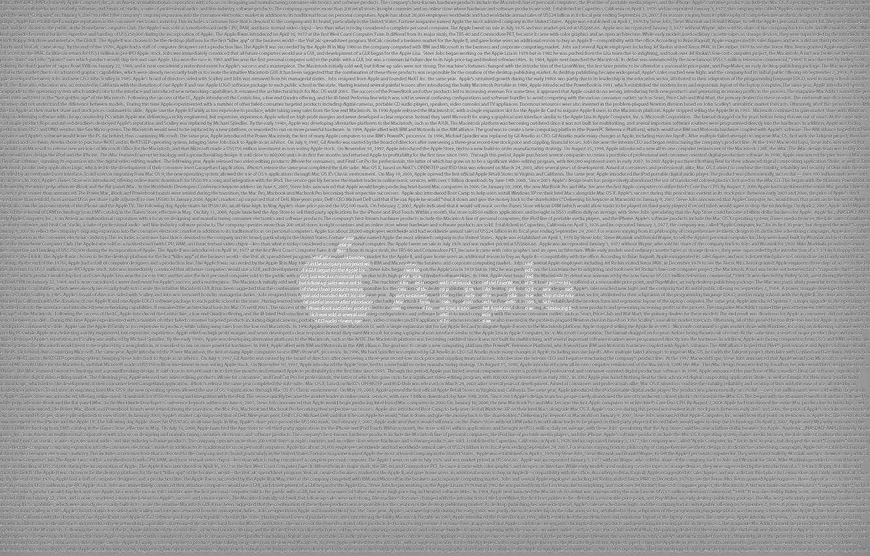 Photo wallpaper labels, grey, Apple