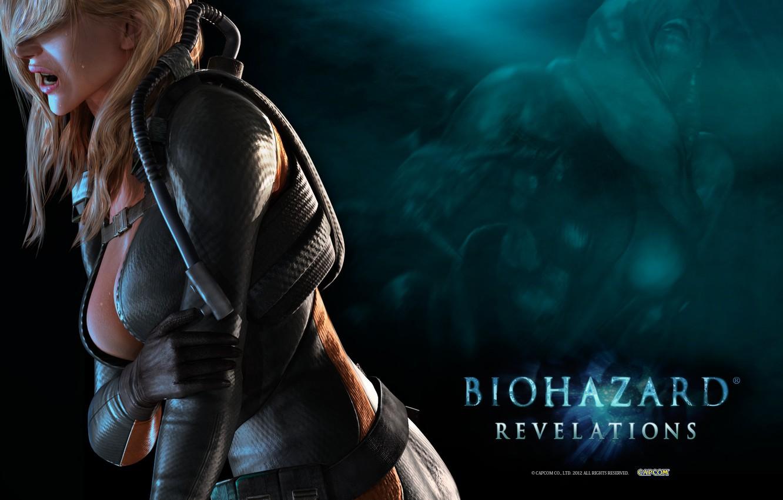 Photo wallpaper chest, hair, monster, pain, umbrella, Resident Evil, mutant, Capcom, Diving suit, Resident Evil: Revelations, Biohazard, …
