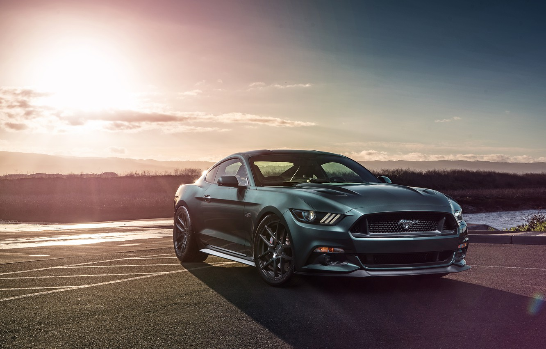 Wallpaper Muscle Car Ford Mustang Gt Richard Le For Velgen Wheels