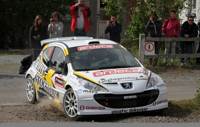 Photo wallpaper Dust, Peugeot, Rally, 207