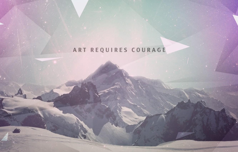 Photo wallpaper wallpaper, design, art, mountains