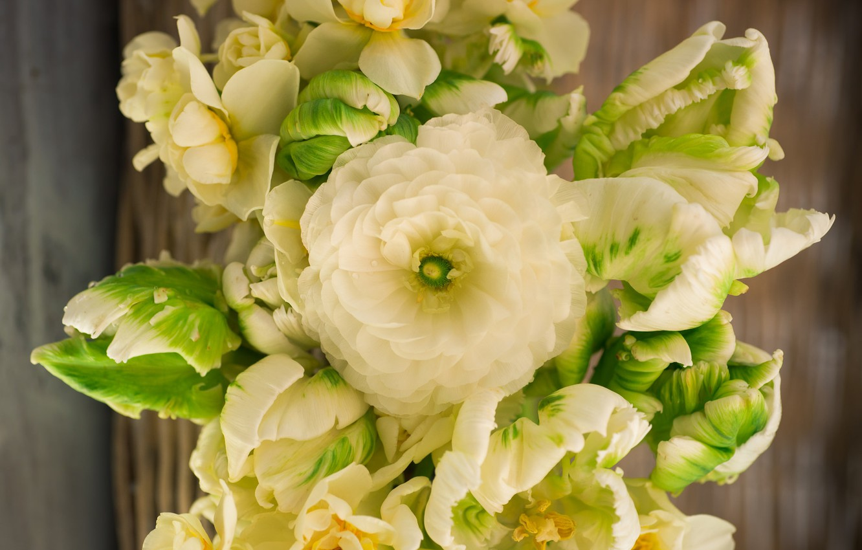 Wallpaper Macro Bouquet Tulips Ranunculus Images For Desktop Section Cvety Download