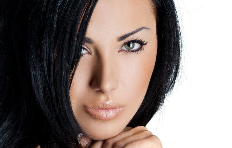 Photo wallpaper eyes, model, brunette, look
