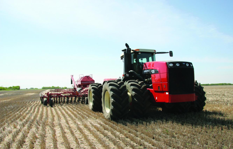 Photo wallpaper field, harvester, harvesting
