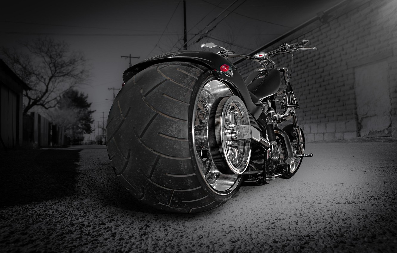 Photo wallpaper design, style, street, motorcycle, bike, chopper