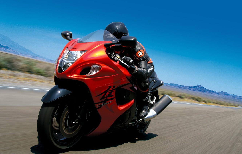 Photo wallpaper road, speed, motorcycle