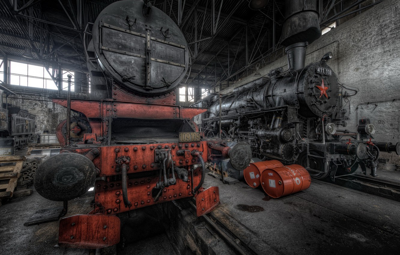 Photo wallpaper background, repair, locomotives