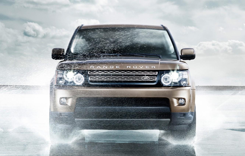 Photo wallpaper Water, Sport, Machine, Land Rover, Range Rover, Car, Car, Water, Sport, Land Rover, Range Rover