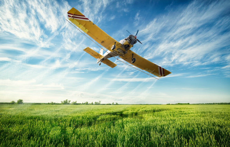 Обои aircraft, fields, sky. Абстракции foto 6
