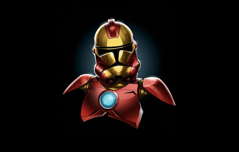 Photo wallpaper humor, star wars, comics, iron man, marvel, comics, iron man, star-wars