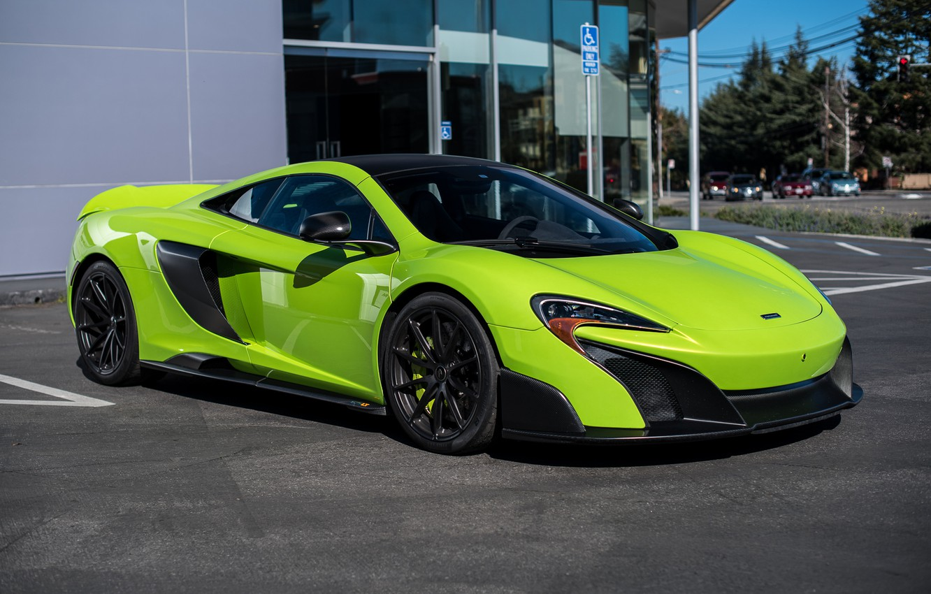 Photo wallpaper McLaren, Green, san francisco, 675LT, Napier, 5365