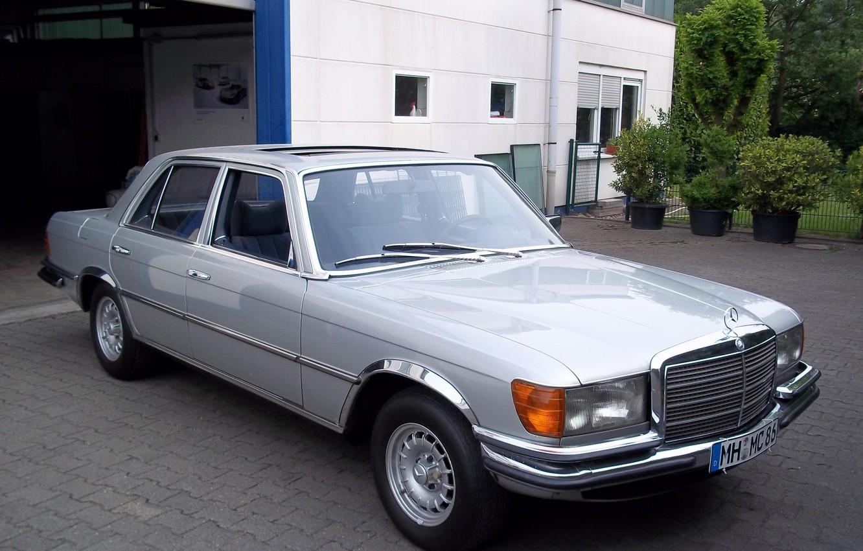Photo wallpaper Mercedes-Benz, silver, w116