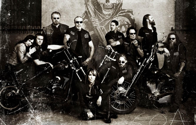 Wallpaper Bikes Soa Club Samcro Men Redwood Original Crew