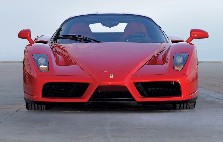 Photo wallpaper red, red, Ferrari, front view, ferrari enzo, Enzo