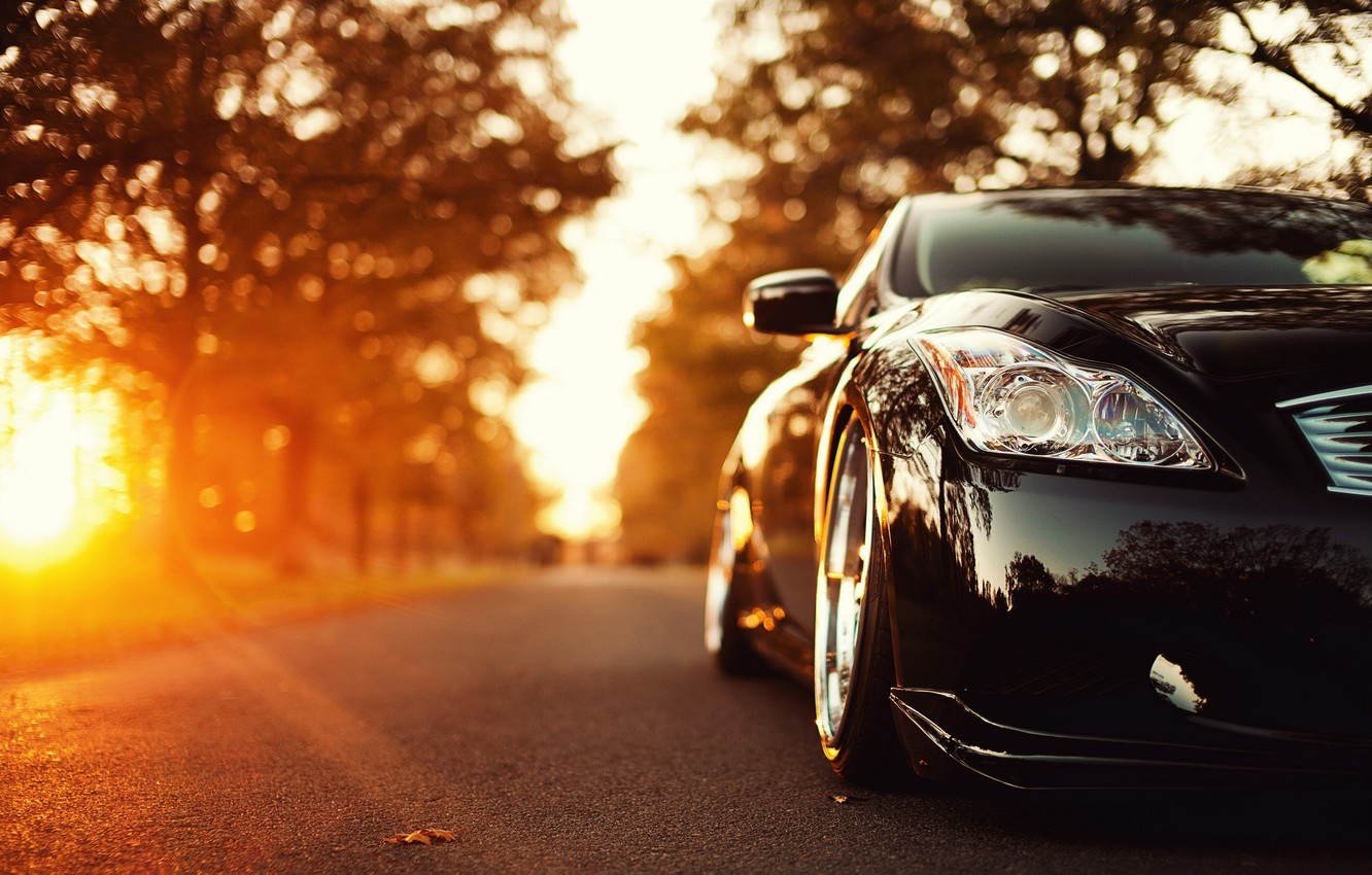 Photo wallpaper road, auto, ISS Forged Infiniti