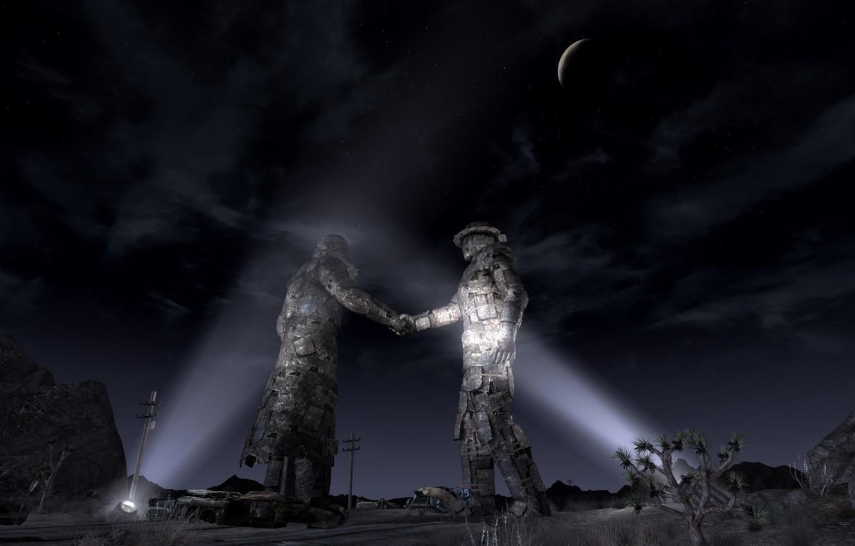 Photo wallpaper Fallout, handshake, NKR, Fallout new vegas