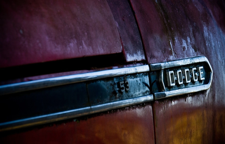 Photo wallpaper car, logo, old, rust