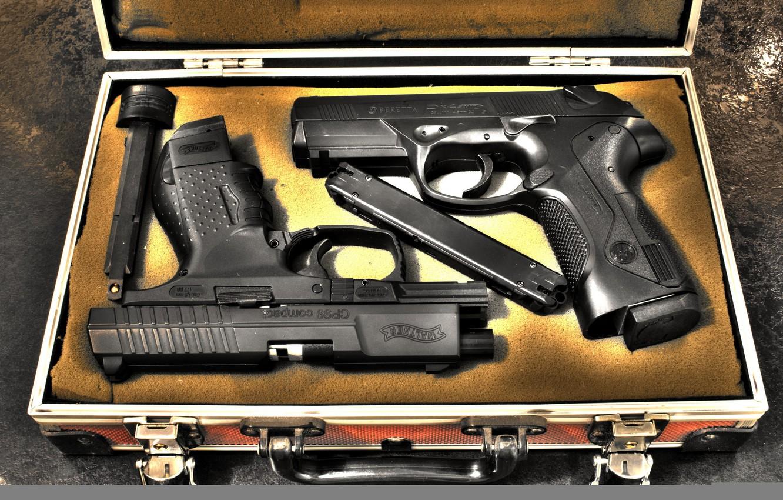Photo wallpaper box, beretta, hand gun