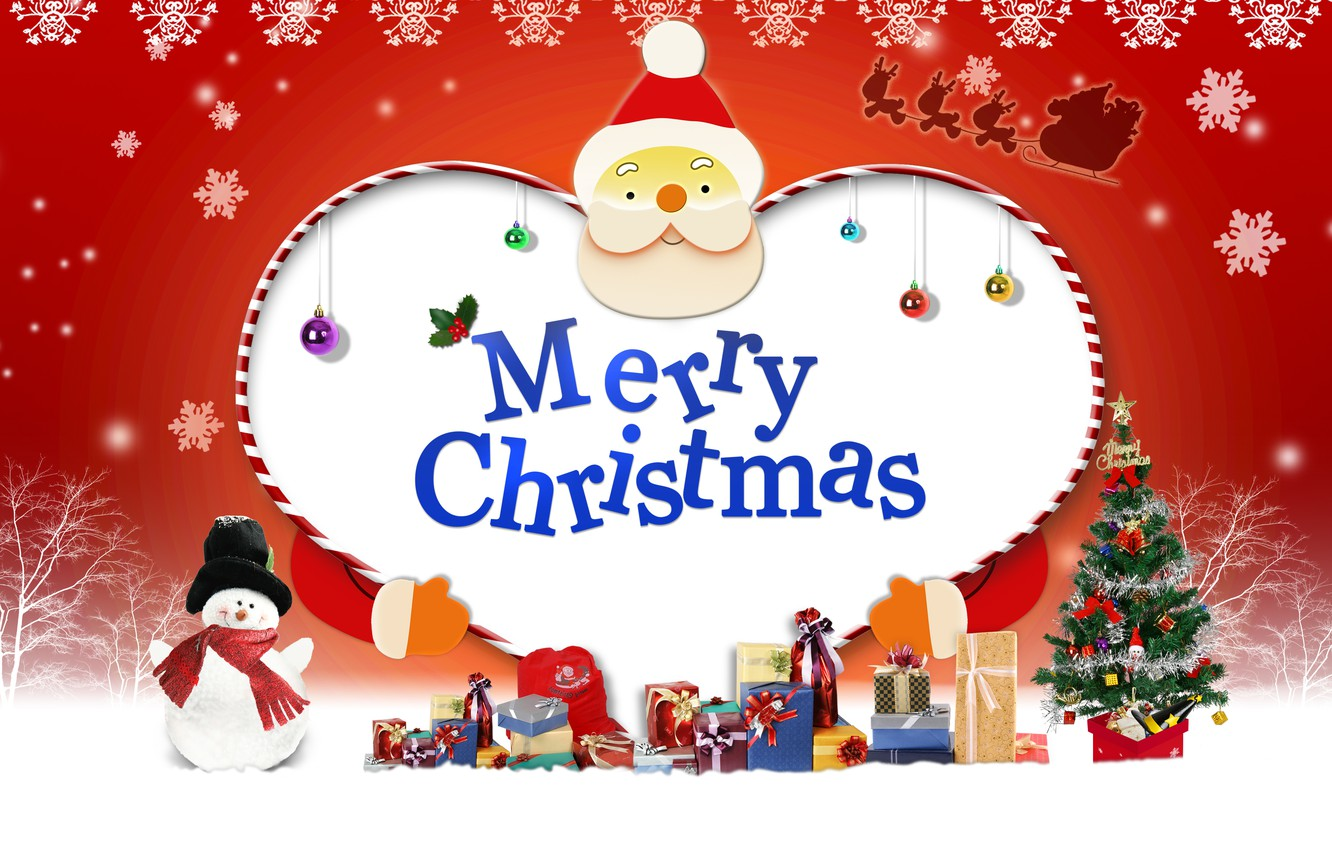 Mery Christmas.Wallpaper New Year Gifts Santa Mery Christmas Images For
