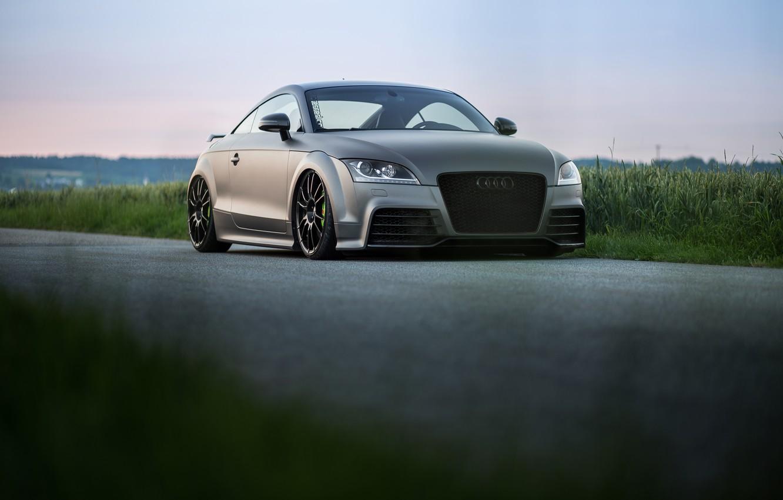Photo wallpaper Audi, grass, Road