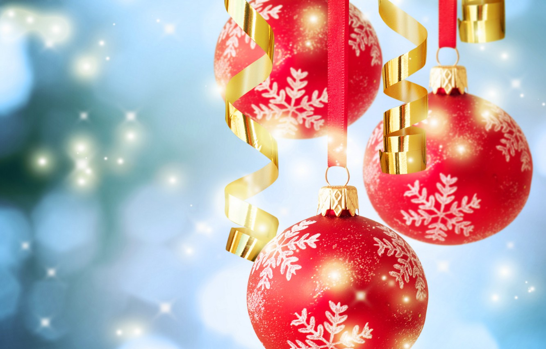Photo wallpaper balls, photo, Christmas, New year, holidays