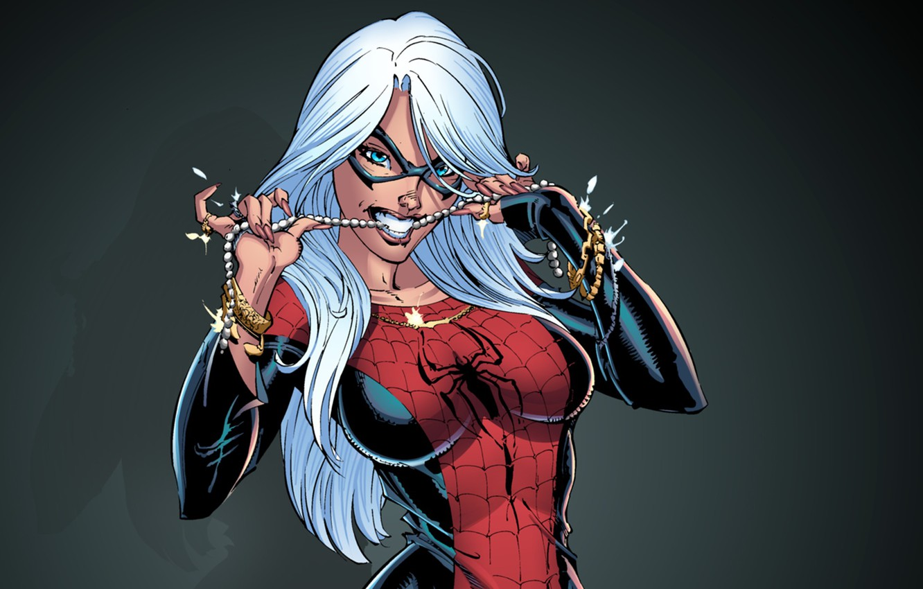 Wallpaper Suit Spider Man Black Cat Felicia Hardy Images For Desktop Section Fantastika Download